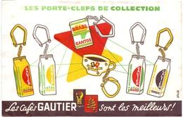 Buvard Vloeipapier - Les Porte Cléfs - Collection Les Cafés Gautier - Café & Thé