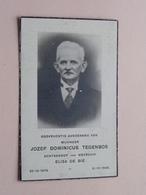 DP Jozef Dominicus TEGENBOS ( Elisa DE BIE ) 29-10-1876  *  31-10-1946 ( Zie Foto's ) ! - Décès