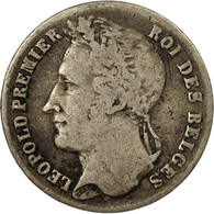 Monnaie, Belgique, Leopold I, 1/4 Franc, 1844, TB+, Argent, KM:8 - 1831-1865: Léopold I