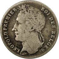 Monnaie, Belgique, Leopold I, 1/4 Franc, 1844, TB+, Argent, KM:8 - 1831-1865: Leopold I