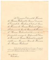 Faire Part De Mariage - Adel Noblesse - Eliane X Pierre De Hennin De Boussu Walcourt - Bois De Westrode Wolverthem - Wedding