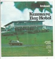 Dépliant Touristique , IRELAND , KENMARE BAY HOTEL , Kenmare ,  Country Of Kerry , Frais Fr 1.55e - Dépliants Touristiques