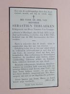 DP Sebastien TERLAEKEN ( Virginia Van VLERKEN ) Hoeilaart 18 Juli 1874 - 8 Mei 1943 ( Zie Foto's ) ! - Décès