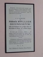 DP Sidonie ROLLIER ( Charles DE SMET ) POLLAERE 14 Mai 1870 - ROUX 2 Mars 1933 ( Zie Foto's ) ! - Décès