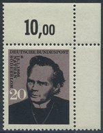!a! GERMANY 1966 Mi. 0504 MNH SINGLE From Upper Right Corner - Nathan Söderblom, Theologian - Ungebraucht