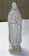 ANCIENNE SCULPTURE PLATRE RELIGIEUSE LA VIERGE SCULPTEUR SITERE SACCI / BAMAINO - Autres
