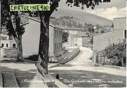 Abruzzo-l'aquila-civitaretenga Via Garibaldi Veduta Via Scuola Case Animata - Italia