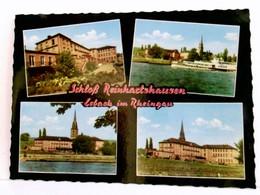 Mehrbild AK Schloß Reinhartshausen, Erbach Im Rheingau, Gebäudeansichten, Kirche, Ausflugsschiff Auf Dem Rhein - Unclassified