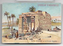 Ancien Chromo Chocolat D'Aiguebelle Série Des Monuments Du Monde: Autel D'Osiris Sur L'Île De Philae En Egypte - Aiguebelle