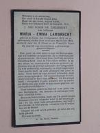 DP Maria - Emma LAMBRECHT () Nevele 18 Sept 1876 - 6 Juli 1949 ( Zie Foto's ) ! - Overlijden