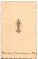 Menu - Adel Noblesse - Monsieur Hubert Lorgnier Du Mesnil - 1928 - Menus