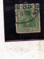 GERMANY GERMANIA GERMAN REICH EMPIRE IMPERO 1902  5pf USATO USED OBLITERE' - Deutschland