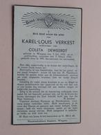 DP Karel-Louis VERKEST ( Coleta DEWEERDT ) Wingene 3 Juli 1853 - 5 Maart 1943 ( Zie Foto's ) ! - Décès