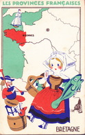 CPA - LES PROVINCES FRANCAISE - Publicité Lion Noir - RENNES - Bretagne - Werbepostkarten