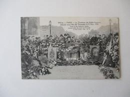 LE TOMBEAU DU SOLDAT INCONNU INHUME SOUS L'ARC DE TRIOMPHE LE 11 NOV. 1920 - France