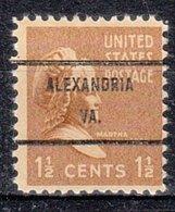 USA Precancel Vorausentwertung Preo, Bureau Virginia, Alexandria 805-71 - Vorausentwertungen