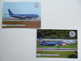 England.  Airliners Manchester City / Etihad Airways  And Leicester City / Thai AirAsia - 1946-....: Era Moderna