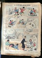 IMAGERIE PELLERIN D'EPINAL - L'AVALANCHE (Illust. D'AUGÉ) - Série Aux Armes D'Epinal N°241 -  Histoires Et Scènes Humor - Old Paper
