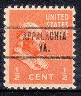 USA Precancel Vorausentwertung Preo, Locals Virginia, Appalachia 734 - Vorausentwertungen