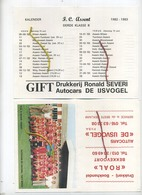 Kalender  F.C. ASSENT  1982-1983 ( De Ijsvogel Tielt-Winge  (  See Scans )  Kortenaken - Calendriers