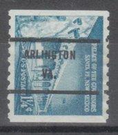 USA Precancel Vorausentwertung Preo, Bureau Virginia, Arlington 1054A-71 - Vorausentwertungen