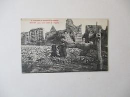 MISERY 1919 LES RESTES DE L'EGLISE. A TRAVERS LA SOMME DEVASTEE 1920 - France