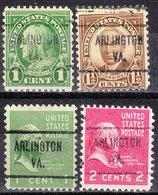 USA Precancel Vorausentwertung Preo, Locals Virginia, Arlington 721, 4 Diff. Perf. 11x10 1/2 - Etats-Unis