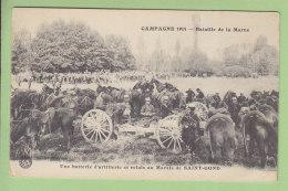 Bataille De La Marne : Une Batterie D'Artillerie Et Relais Au Marais De Saint Gond. 2 Scans. - Guerre 1914-18