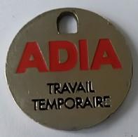 Jeton De Caddie - ADIA - Travail Temporaire - En Métal - - Trolley Token/Shopping Trolley Chip
