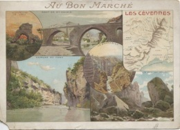 CHROMOS - AU BON MARCHE - LES CEVENNES - Format 16 X 15.5 (abimée En L'état) - Au Bon Marché