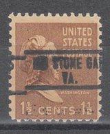 USA Precancel Vorausentwertung Preo, Locals Virginia, Big Stone Gap 813 - Vorausentwertungen