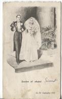 MENU De MARIAGE ILLUSTRE - 1952 - Menus