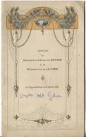 MENU De MARIAGE ILLUSTRE - 1925 - LA HAYE DU PUITS - Menus