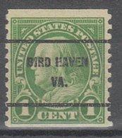 USA Precancel Vorausentwertung Preo, Bureau Virginia, Bird Haven 597-61 - Vorausentwertungen