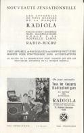 CATALOGUE RADIOLA - LES NOUVEAUTES - PARIS - Advertising