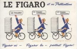 BUVARD - JOURNAL LE FIGARO - Illustration SAVIGNAC - Buvards, Protège-cahiers Illustrés