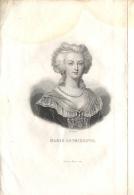 GRAVURE DE MARIE ANTOINETTE Publié Par FURNE - PARIS - Format 15.5 X 22.5 - Stampe & Incisioni
