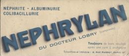 "BUVARD - MEDICAMENTS ""NEPHRYLAN"" - PARIS 12è - Chemist's"