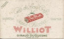 "BUVARD - CHICOREE  ""WILLIOT"" - Ancienne Maison GIRAUD-DUQUESNE - Food"