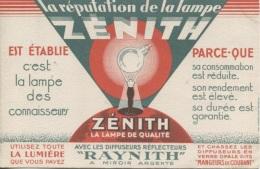 BUVARD - ZENITH - LAMPE DE QUALITE - - Buvards, Protège-cahiers Illustrés