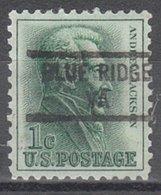 USA Precancel Vorausentwertung Preo, Locals Virginia, Blue Ridge 841 - Vorausentwertungen