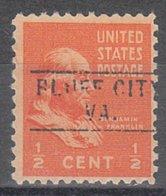 USA Precancel Vorausentwertung Preo, Locals Virginia, Bluff City 745 - Vorausentwertungen