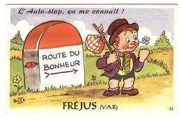 FREJUS (83) - CARTE À SYSTÈME - L' Auto-stop ça Me Connait! - 10 Vues - Ed. CAP - Frejus