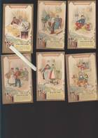 Chromo Fin XIXè - Lot De 12 - Recettes Utiles - Astuces Avec Les Produits De L'époque Pour Le Bricolage - Versos Vierges - Unclassified