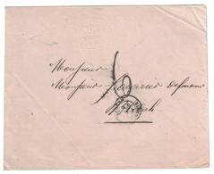 1861 - LETTRE LSC De MEDEAH (ALGERIE BFE) Pour BLIDAH NON-AFFRANCHIE Et TAXÉE À 6 DÉCIMES - Marcophilie (Lettres)
