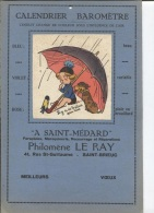 CALENDRIER BAROMETRE - A ST MENARD - MAROQUINERIE LE RAY - ST BRIEUC - ILLUSTRATION - Publicités