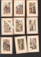 Chromo Fin XIXè - Lot De 12 - Métiers - Maçon, Cordier, Boucher,cartonnier, Tonnelier, Epicier, Fumiste, Boulanger, Badi - Unclassified