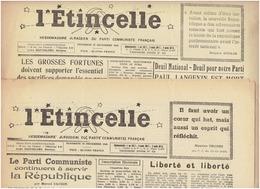 L'étincelle ( Hebdo Jurassien Du Parti Communiste Français ) Des 20 Et 27 Décembre 1946 : Grosses Fortunes ( Barthelemy) - Journaux - Quotidiens