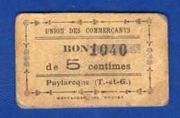 Puylaroque  82/169  Pirot  5 Cts - Bonds & Basic Needs
