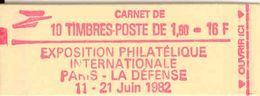 FRANCE - BOOKLET / CARNET, Yvert 2187-c2a 1981, 10 X 1.60 Liberté De Delacroix Ews - Carnets